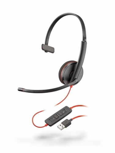 Plantronics Audífonos con Micrófono Monoaural Blackwire 3210, Alámbrico, USB, Negro