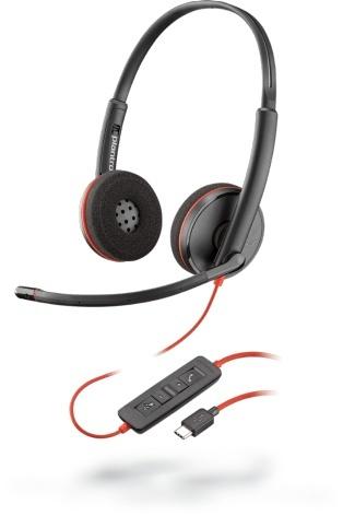 Plantronics Audífonos con Micrófono Binaural Blackwire 3220, Alámbrico, USB, Negro