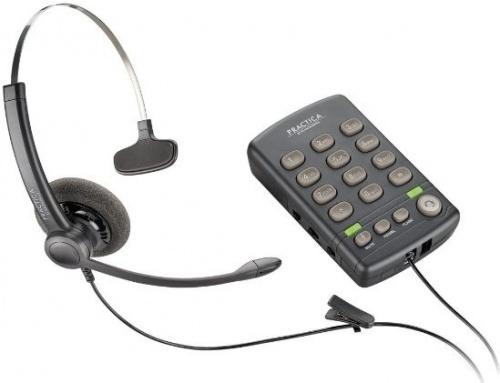 Plantronics Teléfono Practica T110 con Auricular para Call Center, Negro