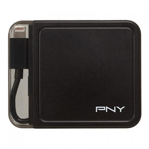 PNY Batería Externa PowerPack con Apple Lightning L1500, 1500mAh, Negro