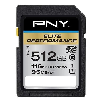 Memoria Flash PNY P-SDX512U3H-GE, 512GB SDXC Clase 10