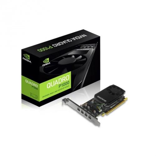 Tarjeta de Video PNY NVIDIA Quadro P1000, 4GB 128-bit GDDR5, PCI Express x16 3.0 - incluye 4 adaptadores Mini DisplayPort - DisplayPort