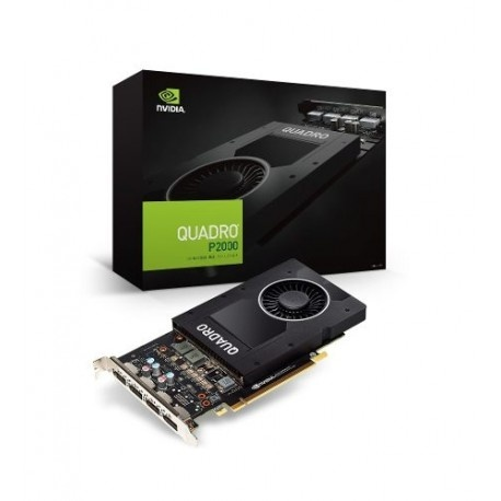 Tarjeta de Video PNY NVIDIA Quadro P2000, 5GB 160-bit GDDR5, PCI Express x16 3.0 - Incluye Adaptador DisplayPort a DVI-D SL