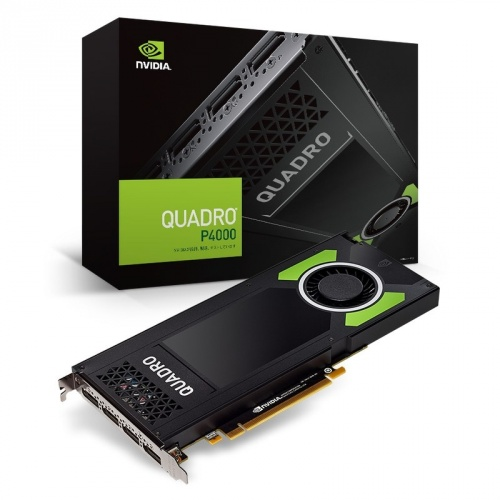 Tarjeta de Video PNY NVIDIA Quadro P4000, 8GB 256-bit GDDR5, PCI Express x16 3.0 - incluye Adaptador DisplayPort - DVI-D SL