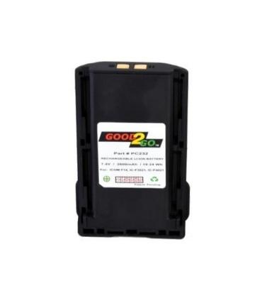 Positive Charge Batería Recargable para Radio PC232, Li-Ion, 2600mAh, 7.5V, para Icom