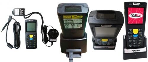 POSline Terminal Portátil TPL7100, Láser 1D, Negro - Incluye Cable USB, Base, Fuente de Poder