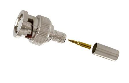 Provision-ISR Set de 3 Piezas Conector Coaxial BNC Macho