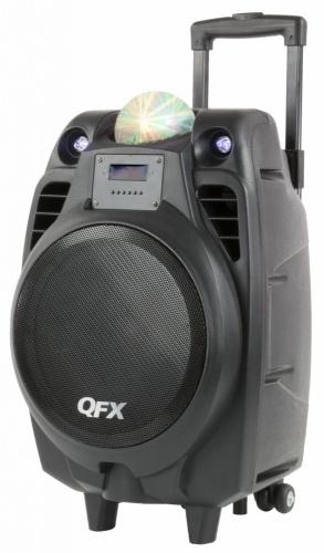 QFX Bafle con Subwoofer PBX-61104, Bluetooth, Alámbrico/Inalámbrico, 2600W PMPO, USB, Negro