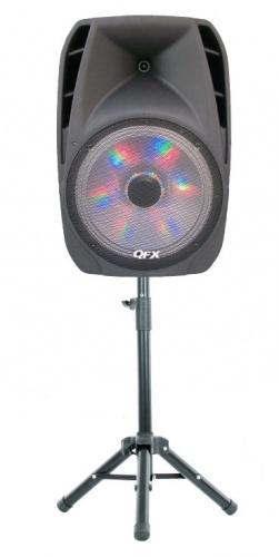 QFX Bafle PBX-61159BTL, Bluetooth, Inalámbrico, 4600W PMPO, USB 2.0, Negro
