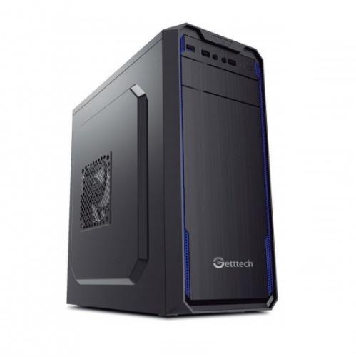 Gabinete Getttech GG1803, Midi-Tower, ATX/Micro-ATX, USB 2.0/3.0, con Fuente de 500W, Negro