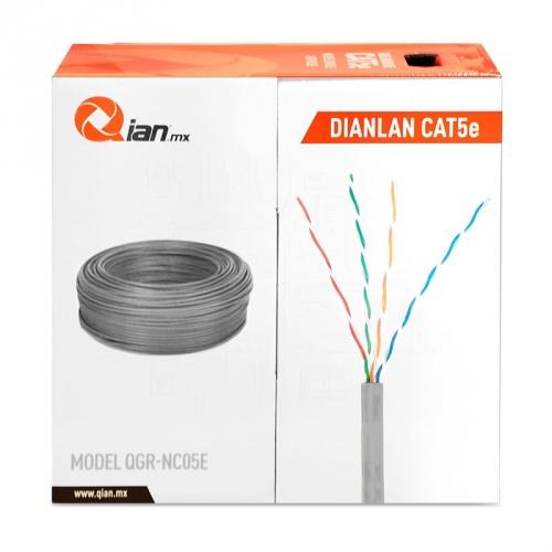 Qian Bobina de Cable Cat5e UTP, 305 Metros, Gris