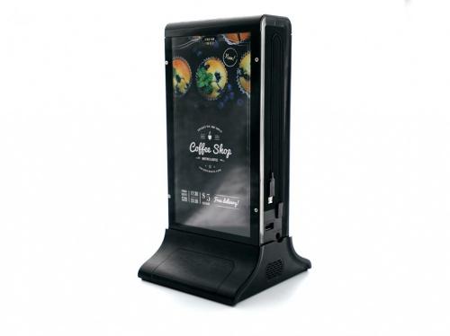 Qian Estación de Carga con Pantalla 7'' QTBPB18001, 5V, 2x USB 2.0, Negro