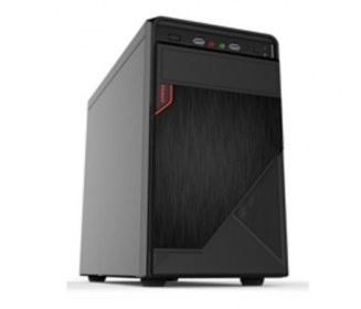 Gabinete Quaroni 92002CB, Midi-Tower, Micro-ATX/Mini-ITX, USB 2.0, con Fuente 400W, Negro/Rojo