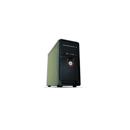 Gabinete Quaroni 92005XW, Midi-Tower, Micro-ATX/Mini-ITX, USB 2.0, con Fuente 400W, Negro/Rojo/Plata