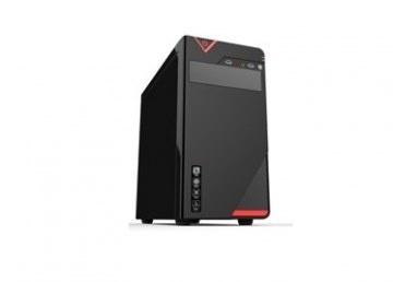 Gabinete Quaroni 92006CE, Midi-Tower, Micro-ATX/Mini-ITX, USB 2.0, con Fuente 400W, Negro/Rojo
