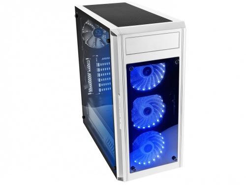 Gabinete Raidmax Alpha Prime con Ventana LED RGB, Full-Tower, ATX/Micro-ATX/Mini-ATX, USB 3.0, sin Fuente, Blanco