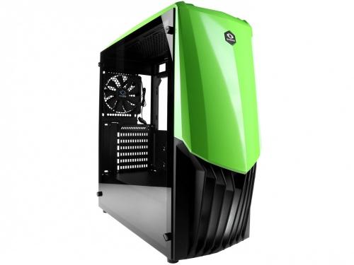 Gabinete Raidmax GAMA con Ventana, Midi-Tower, ATX/ITX/Micro-ATX, USB 3.0, sin Fuente, Verde