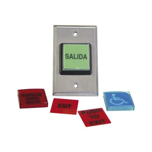 RCI Botón de Salida 972LESMO, Alámbrico, Negro