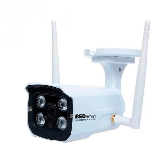 Redlemon Cámara Smart WiFi Bullet IR para Interiores/Exteriores 77631, Inalámbrico, 1280 x 720 Pixeles, Día/Noche