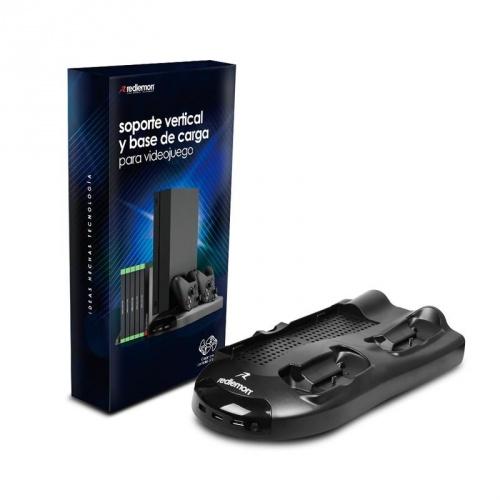 Redlemon Base Vertical con Estación de Carga, para Gamepads y Xbox One, Negro