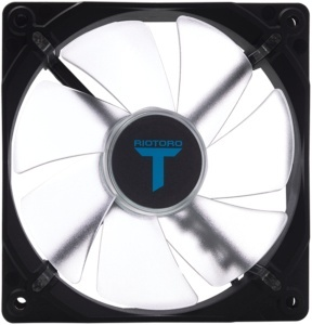 Ventilador Riotoro FB120 LED Azul, 120mm, 1500RPM, Negro