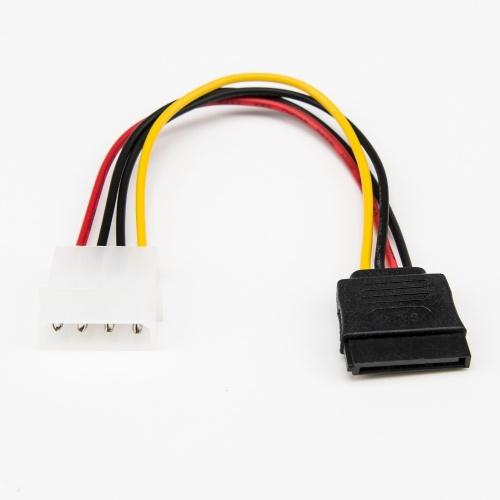 Rocstor Cable SATA 4-pin Molex - LP4 Macho, 15cm, Negro