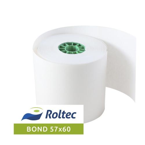 Roltec Rollo de Papel Bond, 57 x 60mm, 108 Rollos