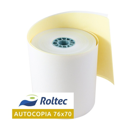 Roltec Rollo de Papel Autocopia, 76 x 70mm, 50 Rollos