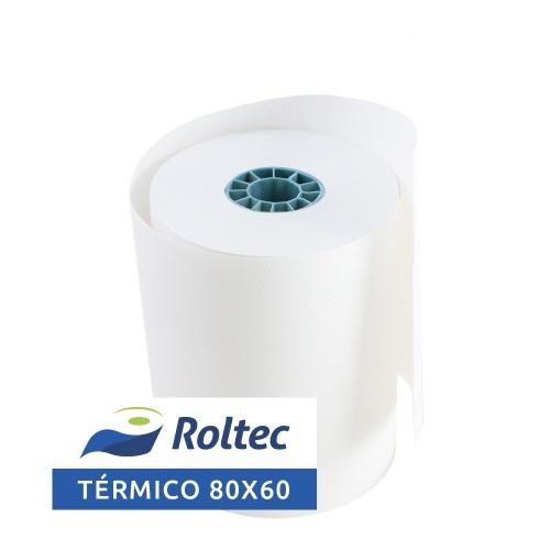 Roltec Rollo de Papel Térmico, 80 x 60mm, 108 Rollos