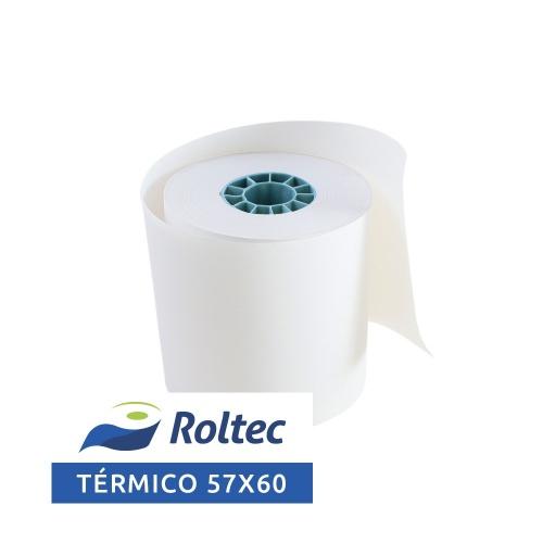 Roltec Rollo de Papel Térmico, 57 x 60mm, 108 Rollos