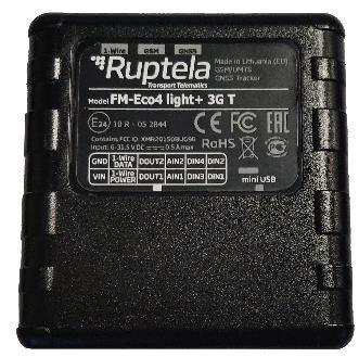 Ruptela Rastreador GPS para Automóvil ECO4 light+ 3G T, Negro, Compatible con GLONASS y GALILEO