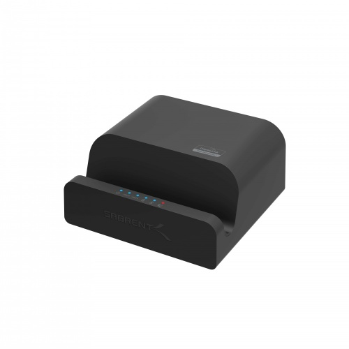 Sabrent Docking Station DS-RICA para Tablet/Smartphone, 2x USB 3.0, 1x RJ-45, Negro
