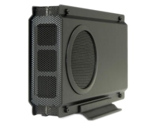 Sabrent Gabinete de Disco Duro con Ventilador EC-UEIS7 para 3.5'', SATA II, USB 2.0, Negro