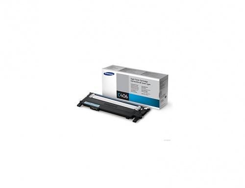 Toner Samsung CLT-C406S Cyan, 1000 Páginas