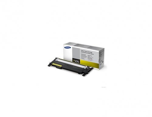 Tóner Samsung CLT-Y406S Amarillo, 1000 Páginas