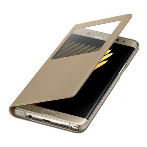 Samsung Funda S View Standing para Galaxy Note 7, Oro