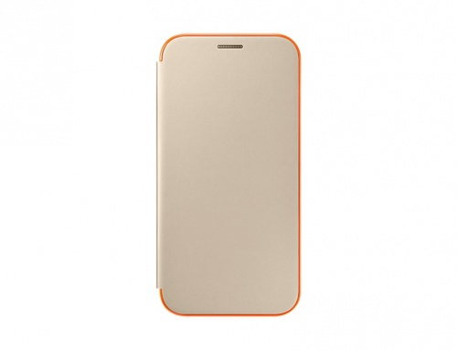 Samsung Funda Neon Flip Cover para Galaxy A7, Oro