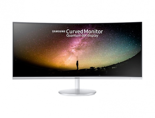 Monitor Samsung Curvo LC34F791WQLXZX LED 34'', 4K Ultra HD, UltraWide, 100Hz, HDMI, Bocinas Integradas, Blanco