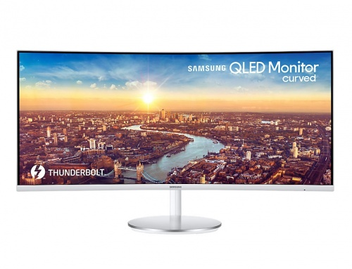 Monitor Curvo Samsung LC34J791WTLXZX QLED 34'', Quad HD, Ultra-Wide, 100Hz, HDMI, Bocinas Integradas, Gris