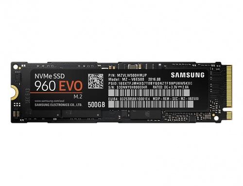 SSD Samsung 960 EVO NVMe, 500GB, PCI Express, M.2