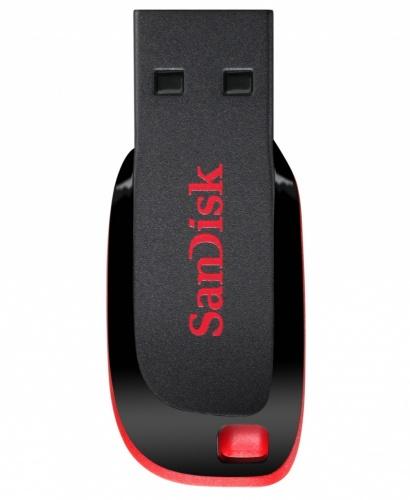 Memoria USB SanDisk Cruzer Blade CZ50, 16GB, USB 2.0, Negro/Rojo