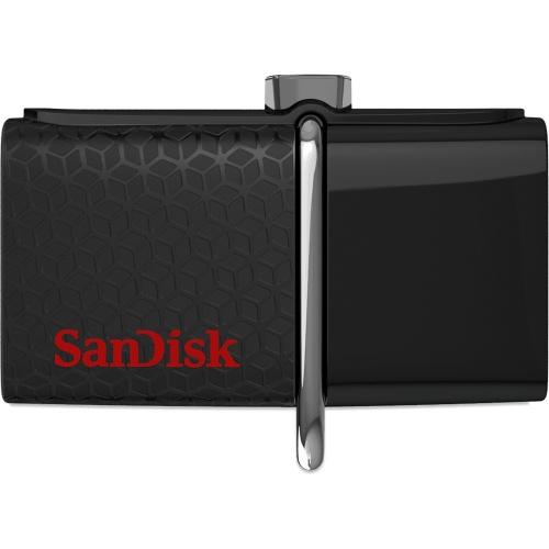 Memoria USB SanDisk Ultra Doble OTG, 16GB, USB 3.0/micro-USB, Negro