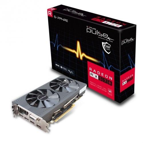 Tarjeta de Video Sapphire AMD Radeon RX 570 Pulse, 8GB 256-bit GDDR5, PCI Express 3.0 ― ¡Compra y recibe hasta 2  juegos GRATIS! (a elegir entre Tom Clancy's The Division 2 ó Resident Evil 2 ó Devil May Cry 5)