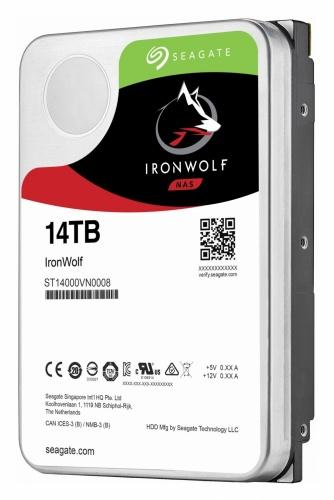 Disco Duro Interno Seagate IronWolf 3.5'', 14TB, SATA III, 6 Gbit/s, 7200RPM, 256MB Cache - para NAS de 1 a 8 Bahías