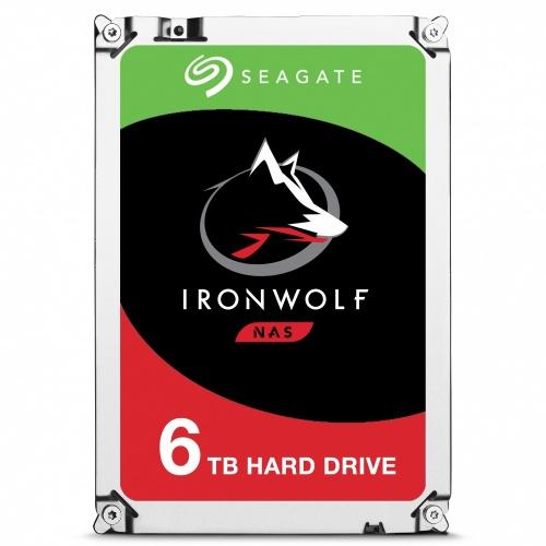 """Disco Duro Interno Seagate IronWolf 3.5"""", 6TB, SATA III, 6 Gbit/s, 7200RPM, 128MB Cache - para NAS de 1 a 8 Bahías"""