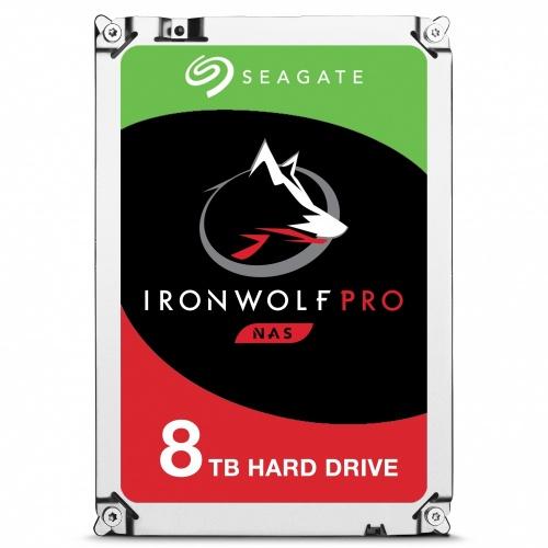 Disco Duro Interno Seagate IronWolf Pro 3.5'', 8TB, SATA III, 6 Gbit/s, 7200RPM, 256MB Cache - para NAS de 1 a 16 Bahías