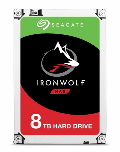 Disco Duro Interno Seagate IronWolf 3.5'', 8TB, SATA III, 6 Gbit/s, 7200RPM, 256MB Cache - para NAS