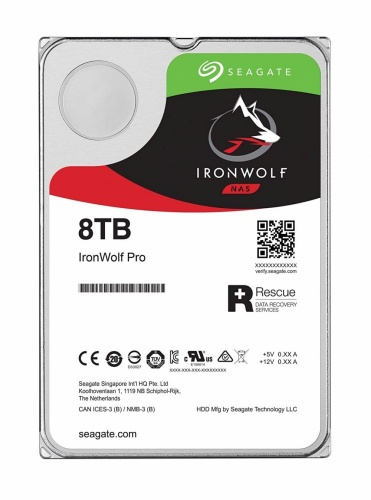 Disco Duro para NAS Seagate IronWolf 3.5'', 8TB, SATA III, 6 Gbit/s, 7200RPM, 256MB Caché