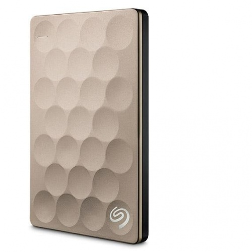 Disco Duro Externo Seagate Backup Plus Ultra Slim 2.5'', 2TB, USB 3.0, Oro - para Mac/PC