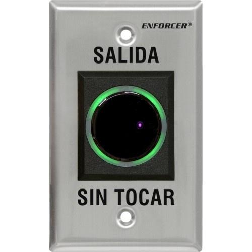 Seco-Larm Botón de Salida Sin Contacto SD-927PKC-NSQ, Alámbrico, Gris
